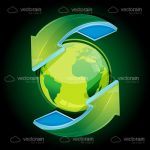 Green Recycling Globe