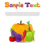 Colourful Card with Vegetables and Sample Text