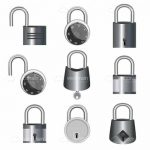 Metallic Locks Icon Set