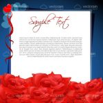 Romantic Theme with Red Roses and Sample Text