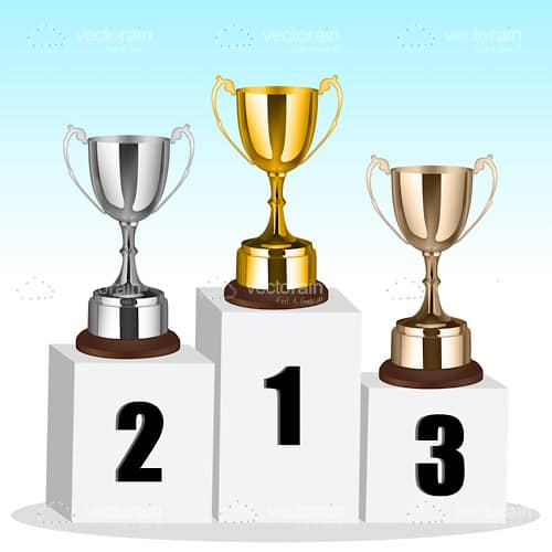 1st, 2nd and 3rd Place Trophies