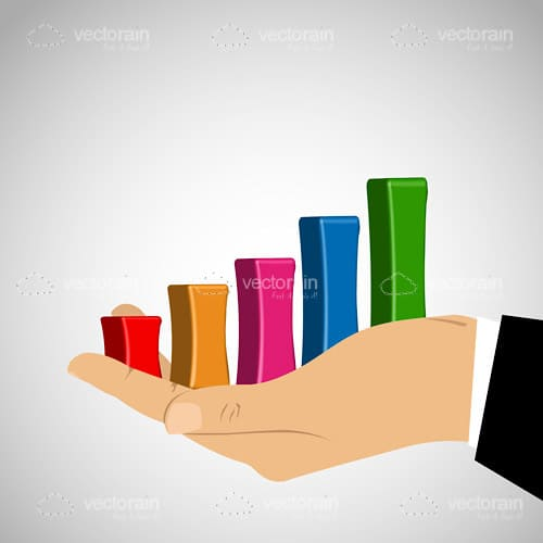 Growth Graph in Businessman Hand