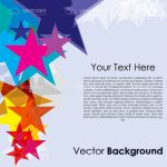 Abstract Colourful Stars Background with Sample Text