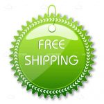 Green Free Shipping Tag