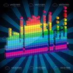 Abstract Colourful Equalizer