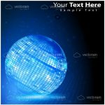Abstract Blue Disco Ball with Sample Text