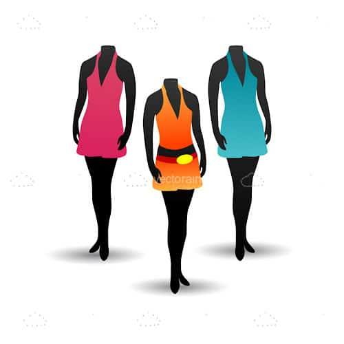 Female Headless Mannequins with Colorful Clothes