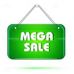 Green Mega Sale Tag