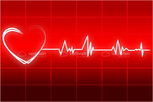 Heart with Cardiograph