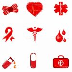 Red Medicine Related Icon Set