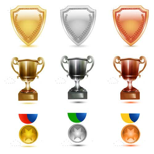 Prizes and Badges Icon Set