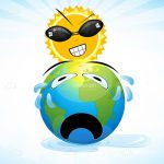 Evil Sun and Crying Earth Cartoon