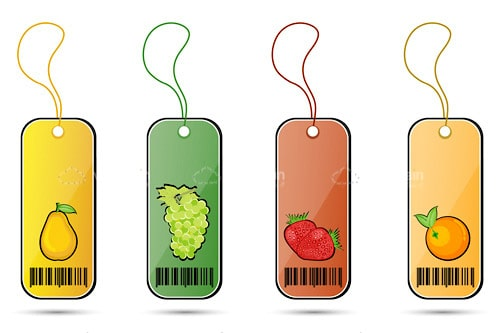 Colorful Fruit Tags