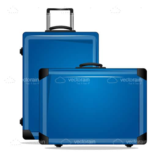 Pair of Blue Suitcases