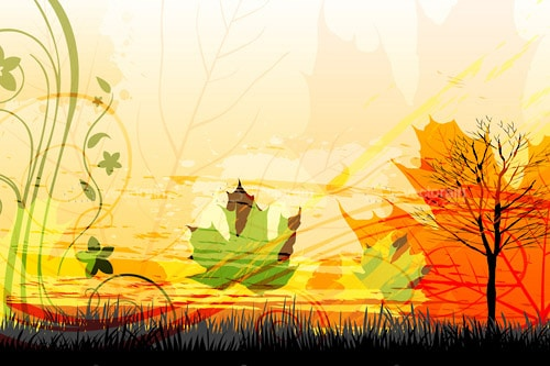 Abstract Autumn Scenery