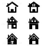 Silhouette House Icon Pack