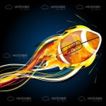 Abstract Rugby Ball Illustration