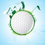 Conceptual Golf Design with Golf Ball and Golf Player