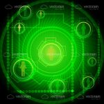 Abstract Network Themed Background in Neon Green and Black