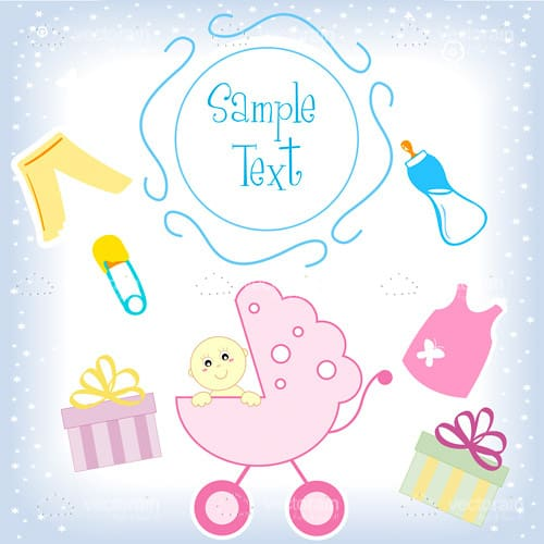 Baby Themed Card with Sample Text