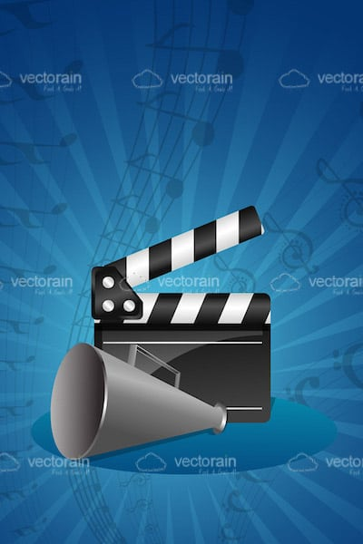 Clapboard with Loudspeaker