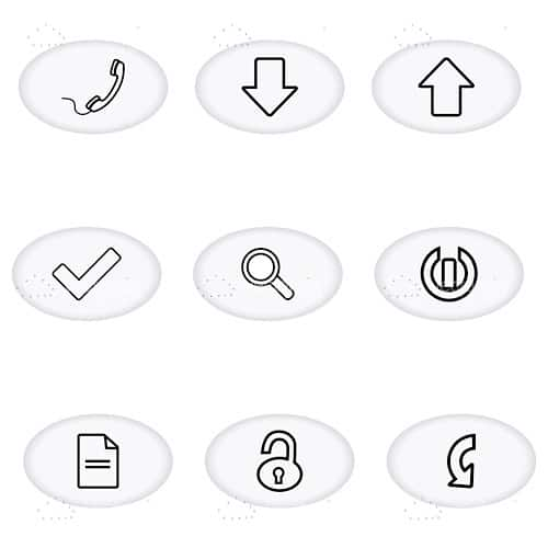Black and White Communications Icons