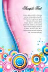 Abstract Pink and Blue Card Background with Sample Text