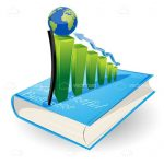 Growth Graphic with Earth Globe on Book