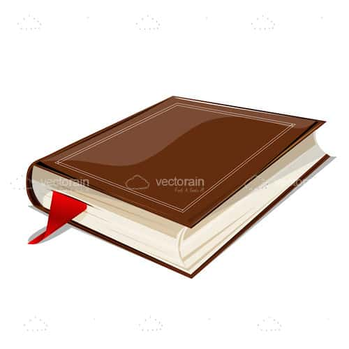 Hardcover Book with Red Bookmark