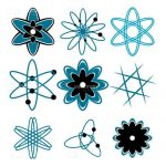 Various Illustrated Atoms Icon 9 Pack