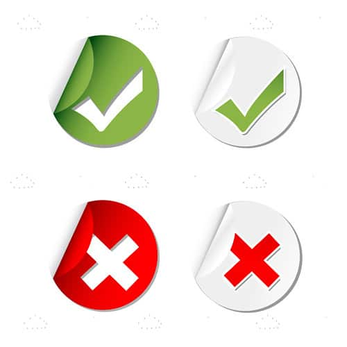 Round Tick Marks and Cross Stickers