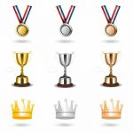 Medals, Trophies and Crowns Set