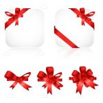 Red Icon Ribbon Decorations 5 Pack