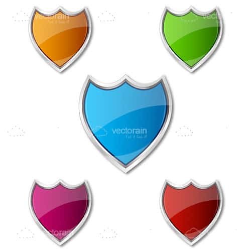 Colourful Glossy Shields
