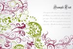 Elegant Floral Background with Sample Text