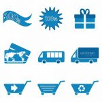 Blue Shopping Icons 9 Pack