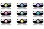 Glossy Media Player Buttons Set