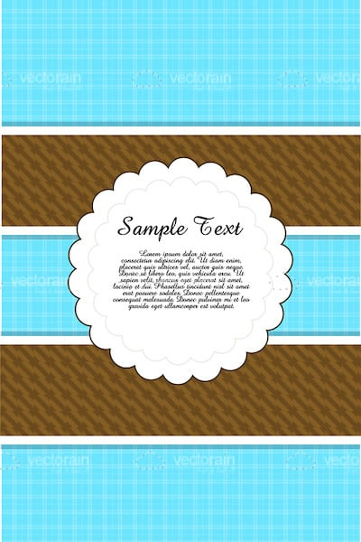 Blue and Brown Card Background with Sample Text