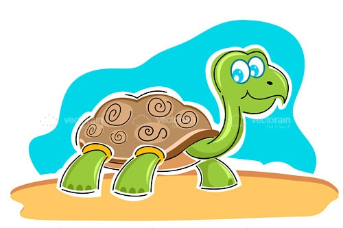 Illustrated Happy Turtle Design