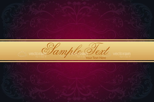 Elegant Background with Golden Band and Sample Text