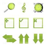 Green Studying Themed Icons 9 Pack