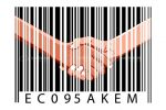 Barcode Pattern with Abstract Handshake