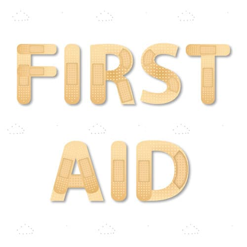 'First Aid' Plasters Background Design