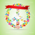 Colourful Floral Designed Card Background