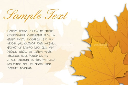 Autumn Leaves Background with Sample Text