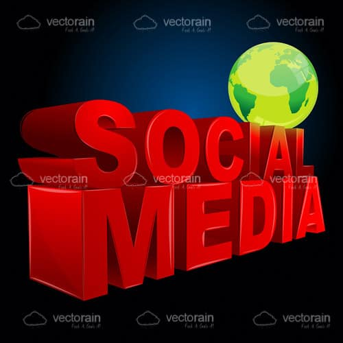 Green Globe and Social Media Logo
