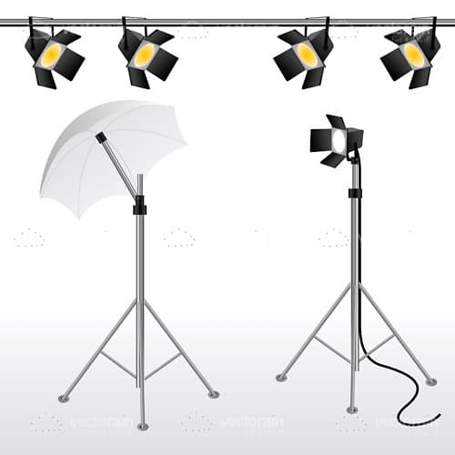 Movie Camera, Shade and Stage Lights Resources