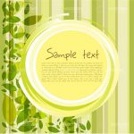 Abstract Nature Background with Circular Text Frame and Leaves