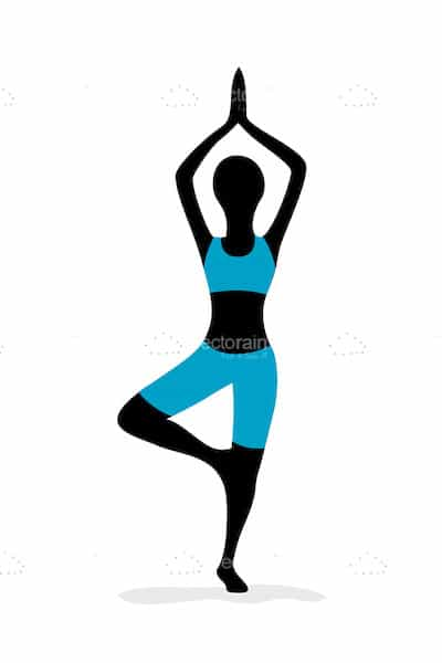Silhouette of Woman in Yoga Pose