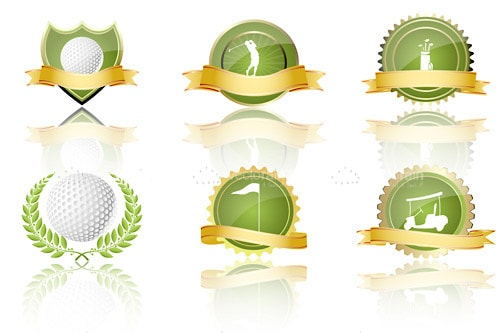 Golf Themed Badges and Labels